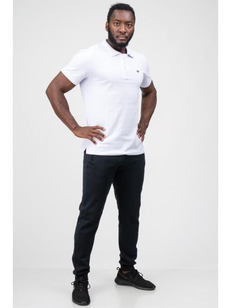 Мужская футболка-поло белая Go Fitness