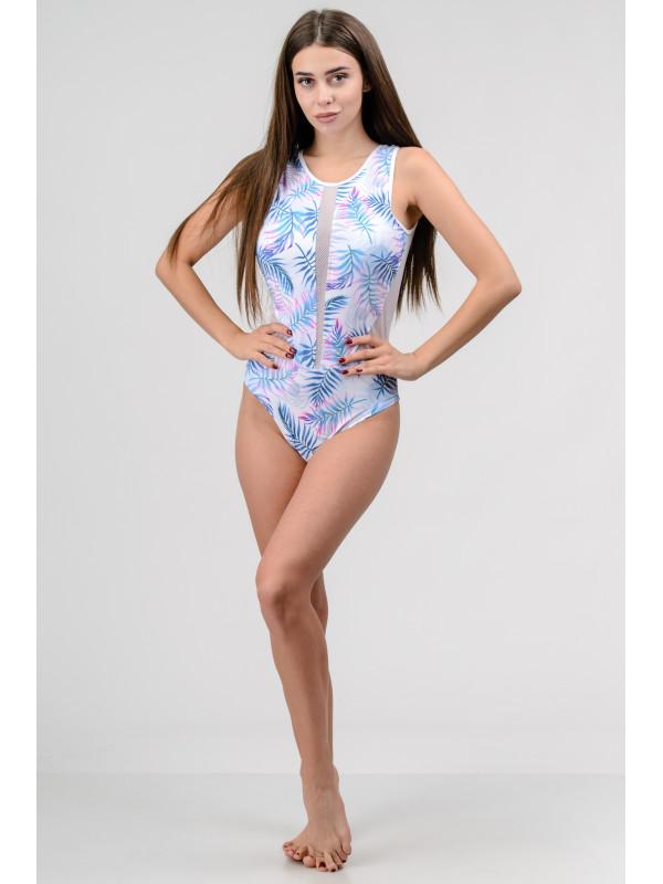 Женский сдельный купальник с чашечками Go Fitness